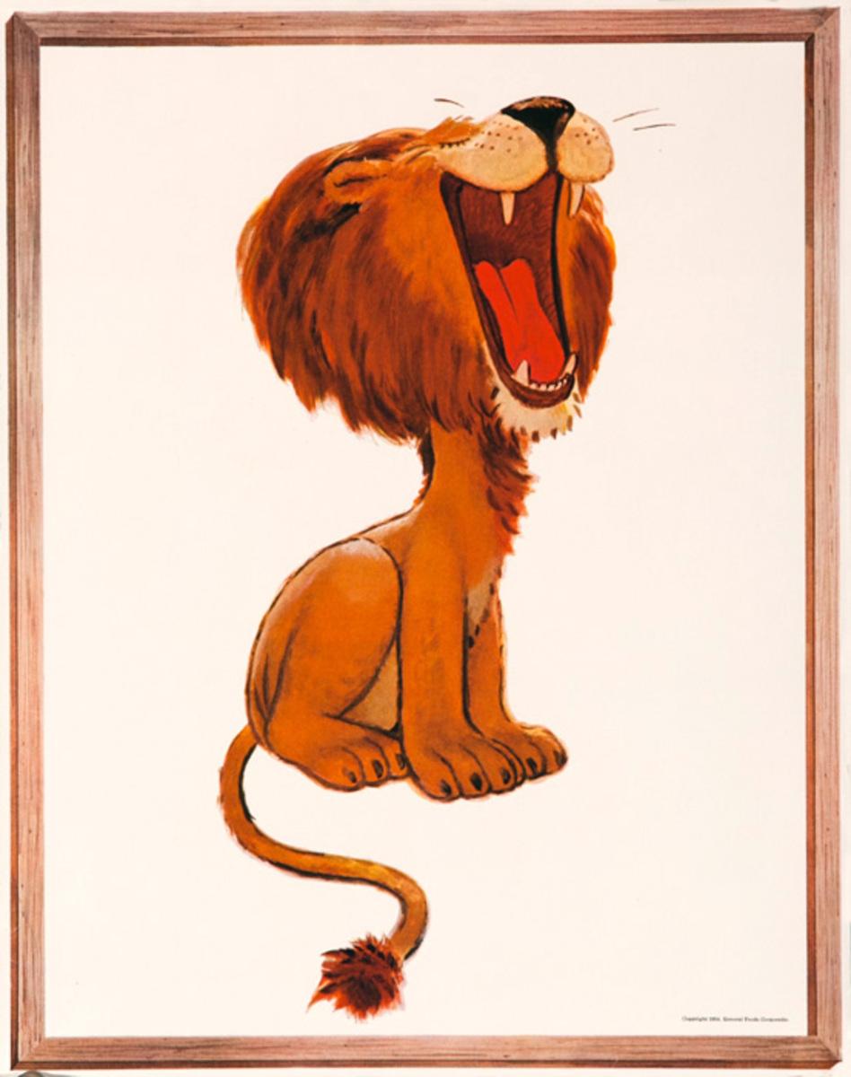 Original Jello Advertising Poster Lion