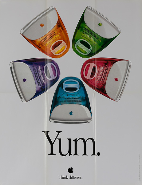 Apple Yum Original Apple iMac G3 Computer Poster