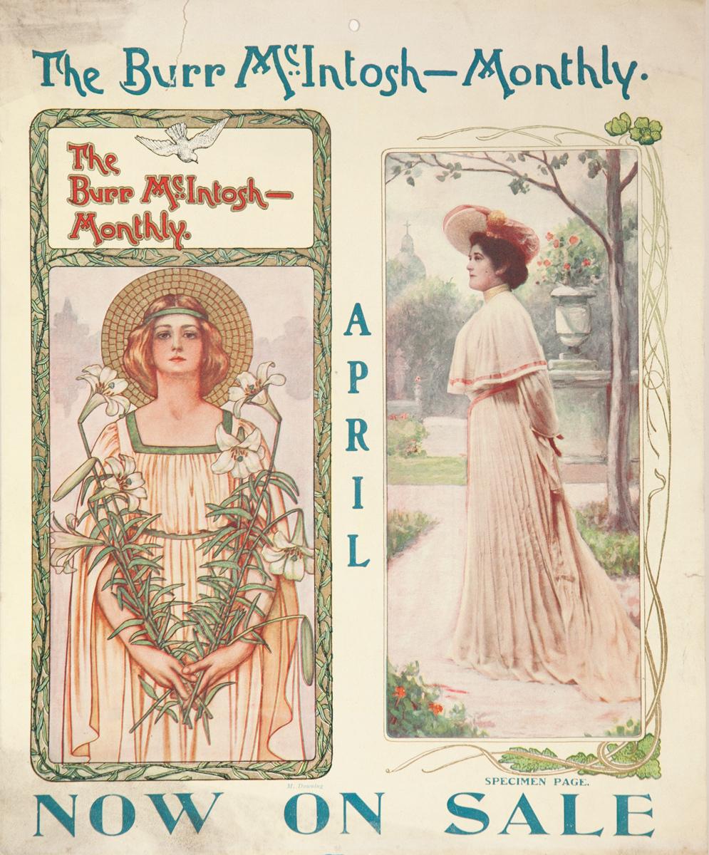 Burr McIntosh Monthly Original American Literary Poster