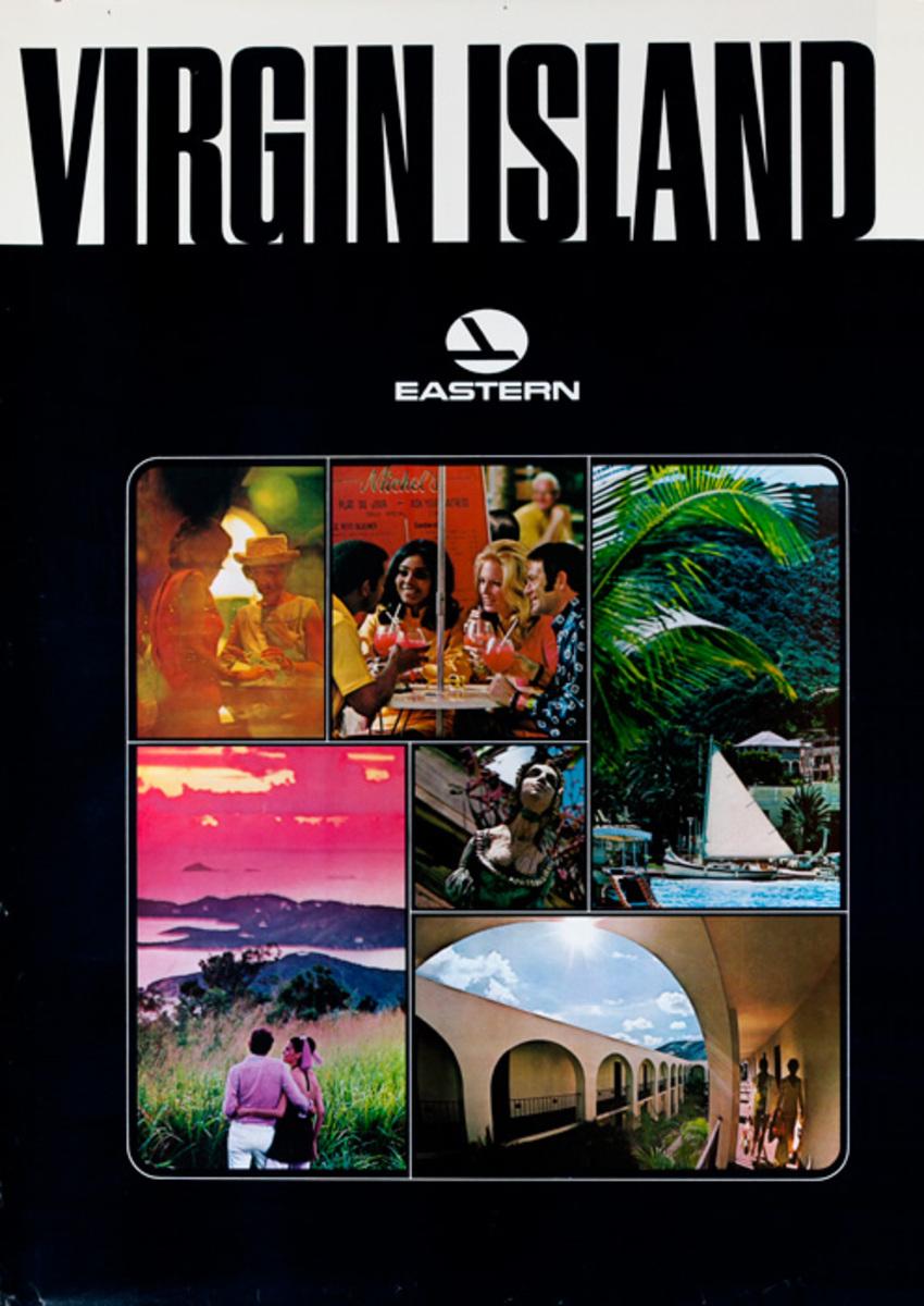Eastern Air Lines Original Travel Poster Virgin Islands photos