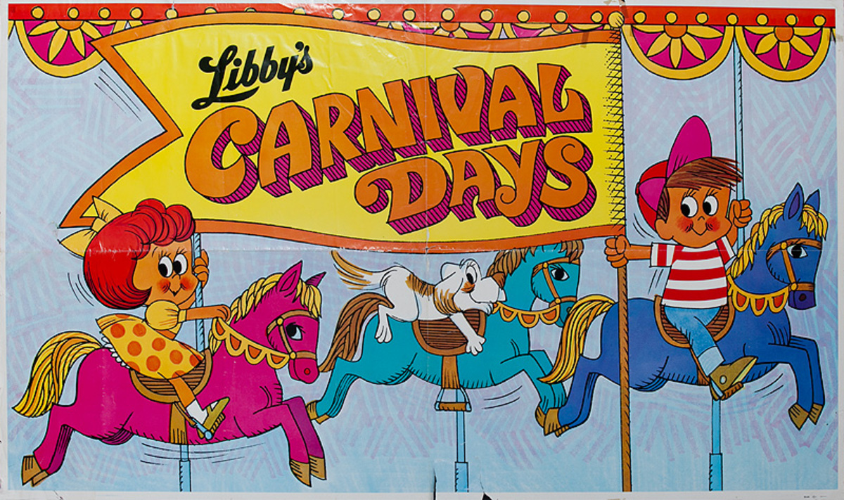 Libby's Carnival Days Original American Advertising Poster