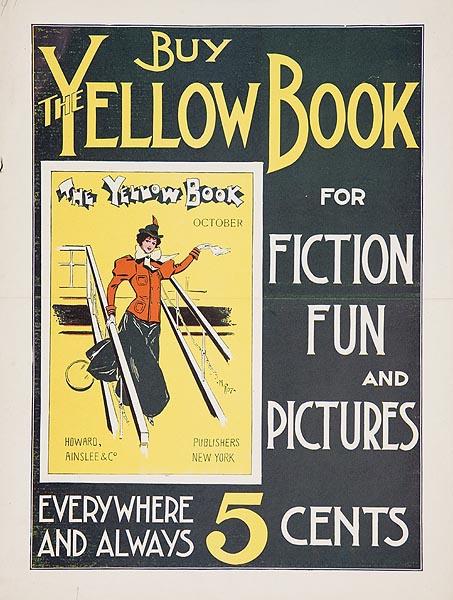 Buy the Yellow Book Original American Literary Poster