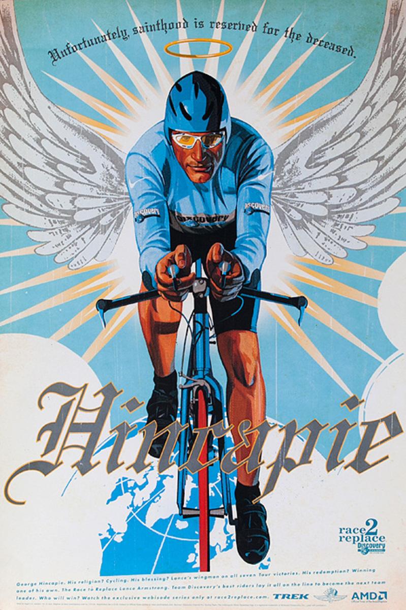 Race 2 Replace Original Team Discovery Bicycle Poster George Hincapie