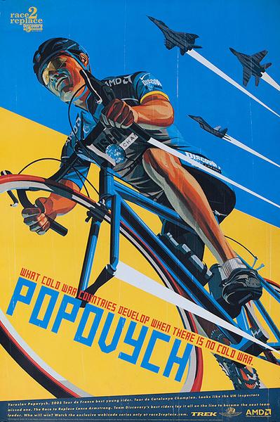 Race 2 Replace Original Team Discovery Bicycle Poster Yaroslsav Popovych