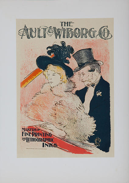 Ault & Wiborg Co., Toulouse-Lautrec Lithographic Plate