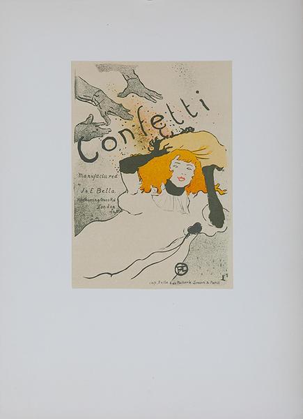 Confetti, Lithographic Toulouse-Lautrec Plate