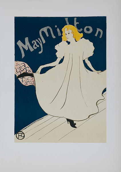 May Milton Lithographic Toulouse-Lautrec Plate
