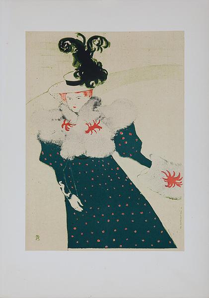 La Revue Blanche Lithographic Toulouse-Lautec Plate