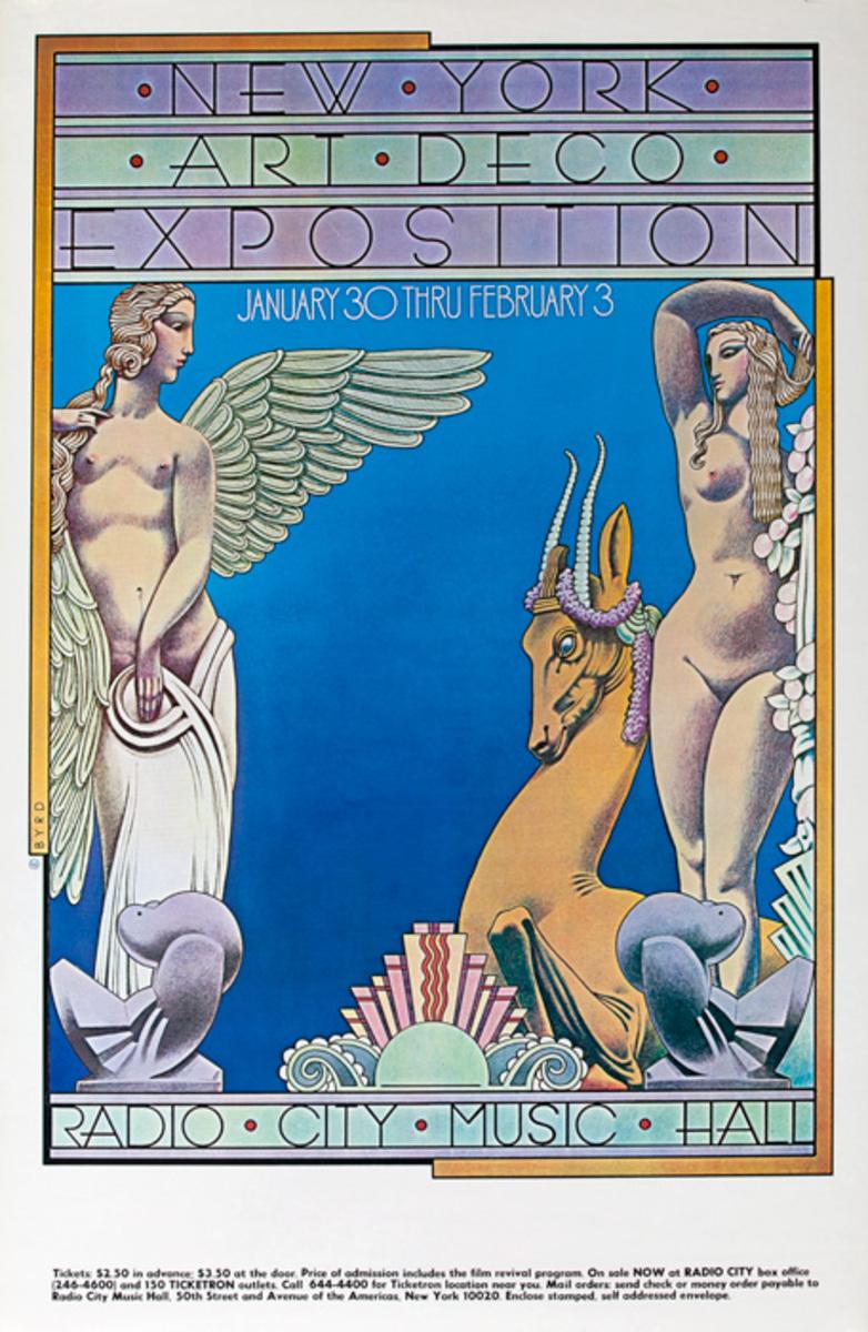 New York Art Deco Exposition Original Poster