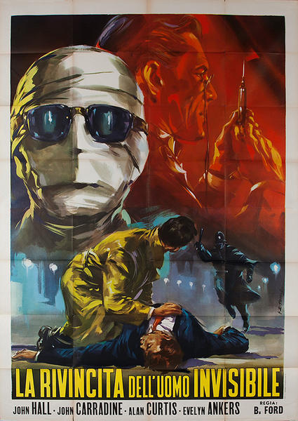 Return if the Invisible Man Original Italian quatrofolio  movie poster