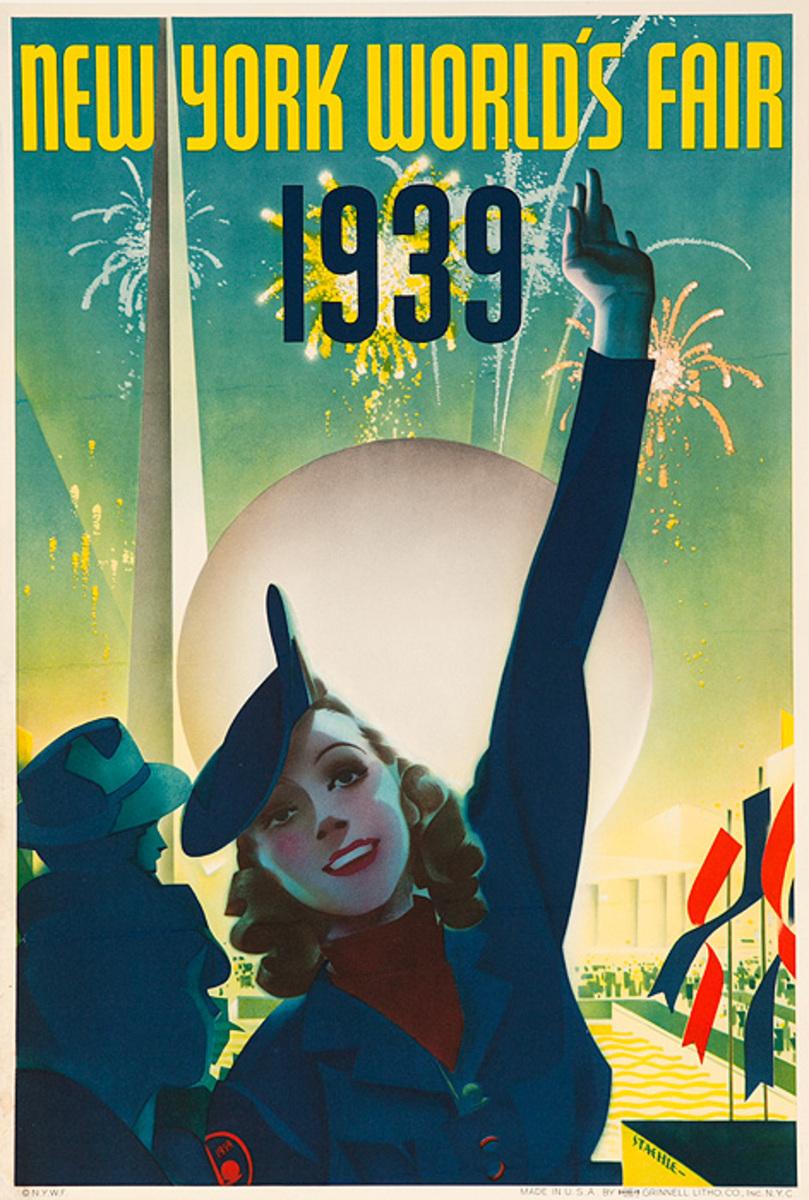 1939 New York World's Fair Poster Staehle