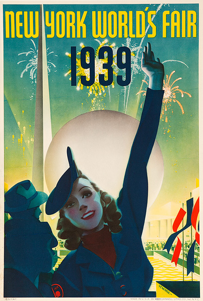 1939 New York World's Fair Poster Staehle