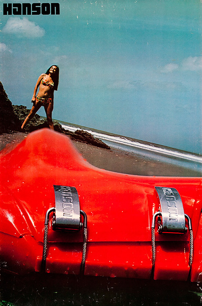 Hanson Ski Boots Original Advertising Poster