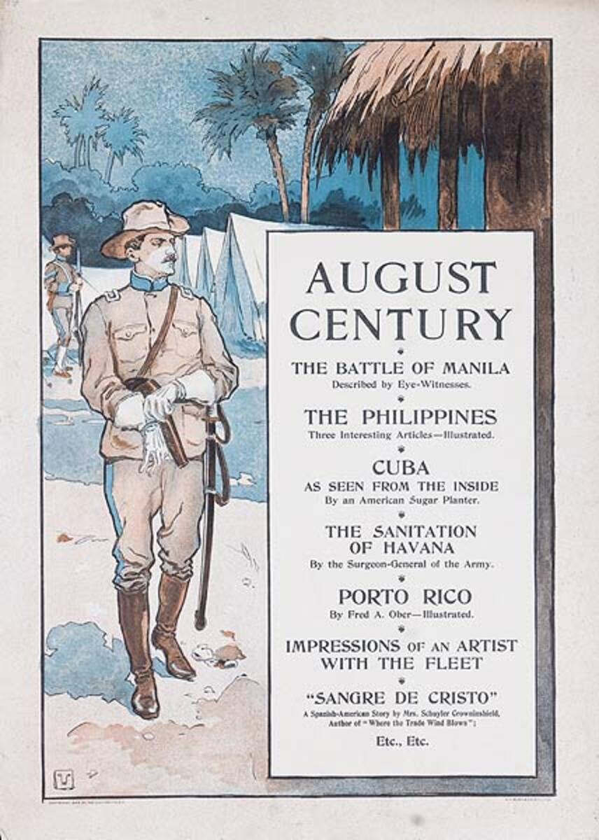 August Century The Battle of Manila Original American Literary Poster