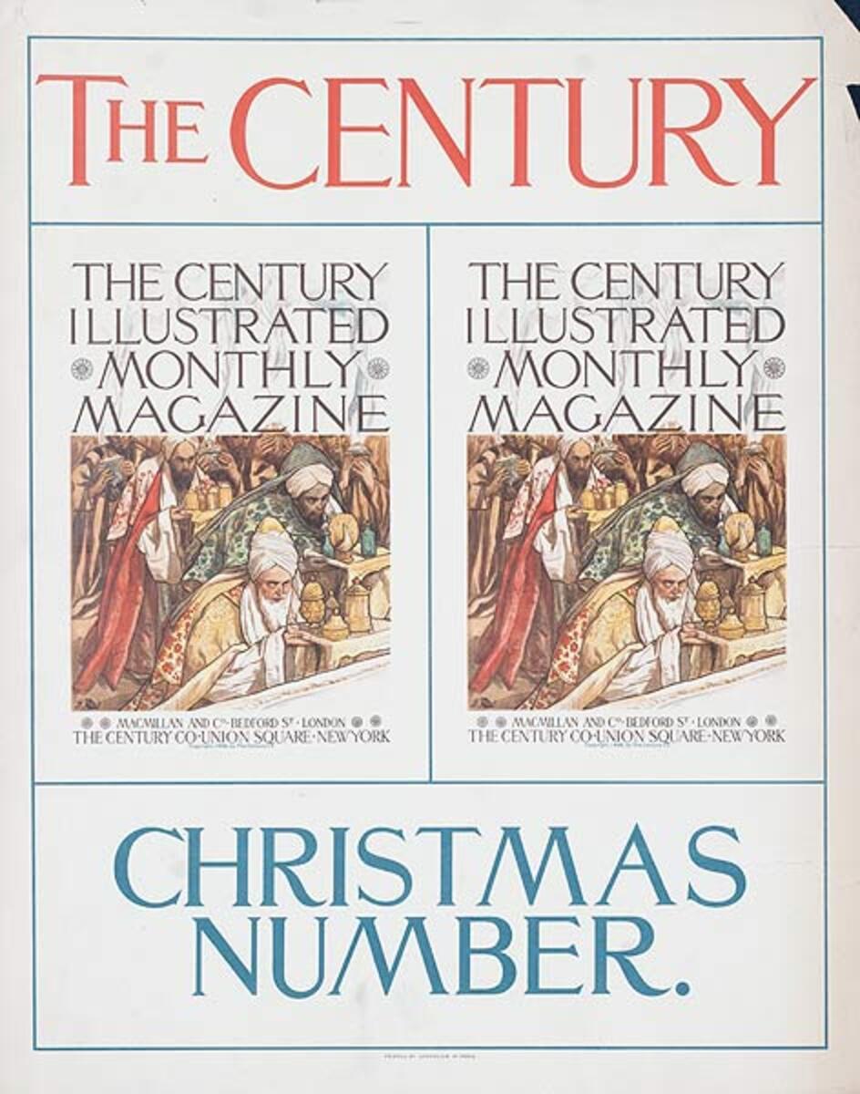 The Century Christmas Number Original American Literary Poster