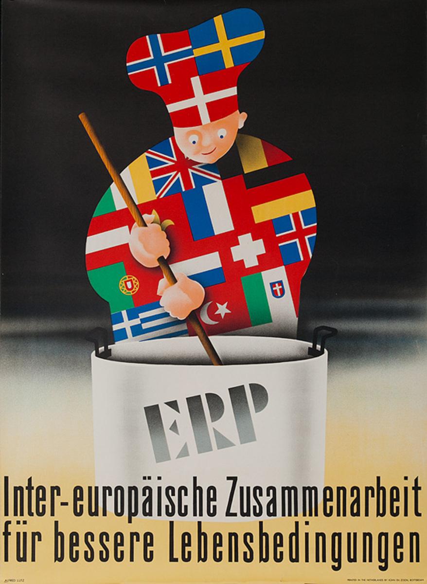 Original ERP Marshall Plan - Germany Poster Cook