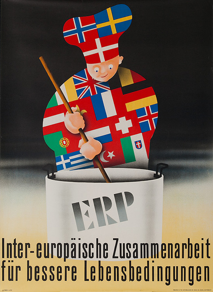 Original ERP Marshall Plan - Germany Poster Cook