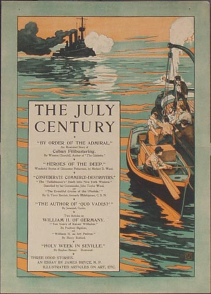 The July Century, By Order of the Admiral Original Vintage Literary Poster