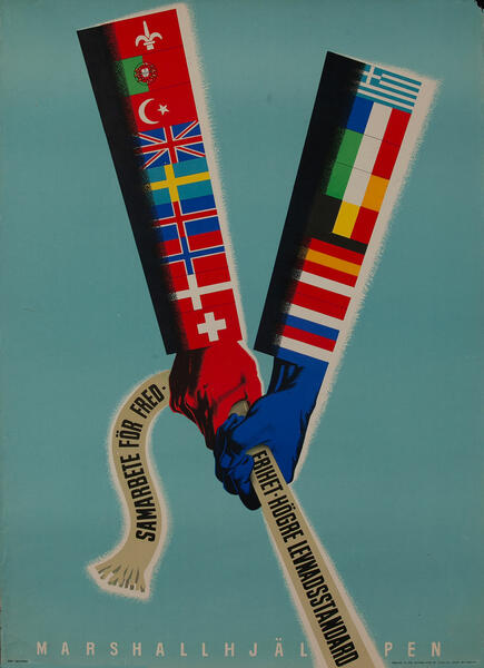 Original Marshall Plan - Sweden Poster  Working Together for Success to a Higher Standard of Living.