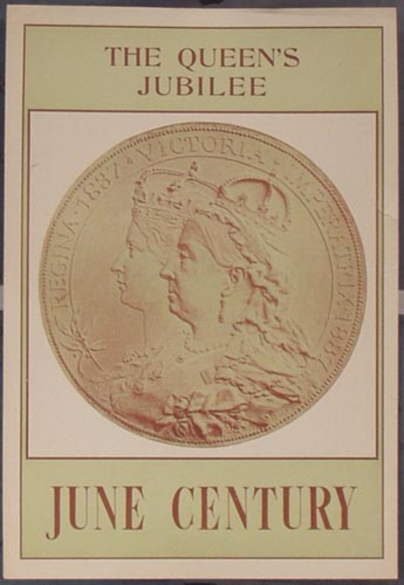 June Century, The Queen's Jubilee Original Vintage Magazine Poster