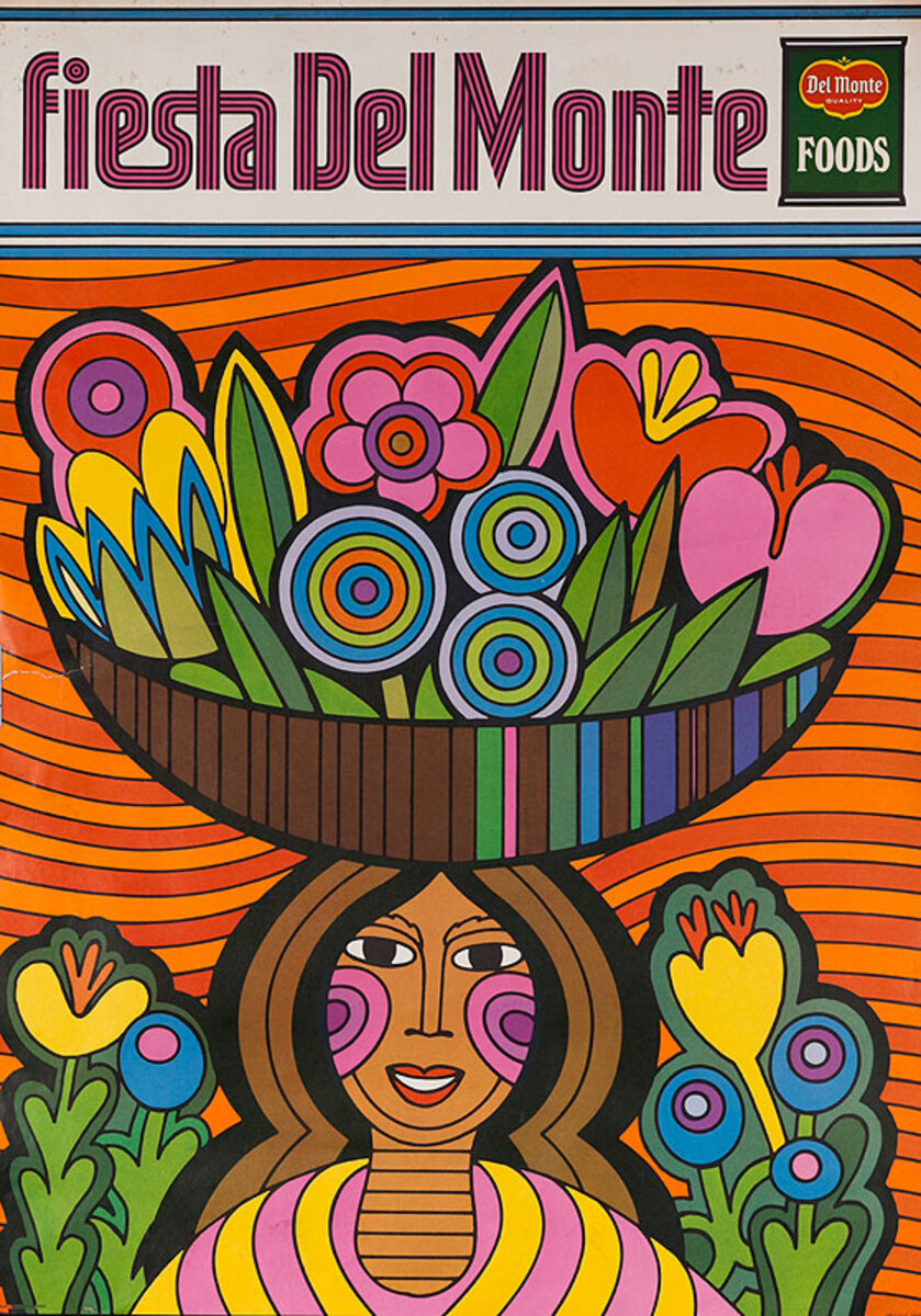Del Monte Foods Fiesta Poster Woman With Basket of Fruit