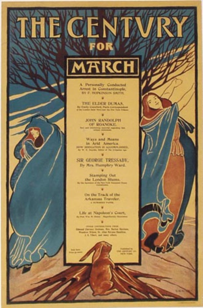 The Century for March, EB Byrd Original Vintage Magazine Poster