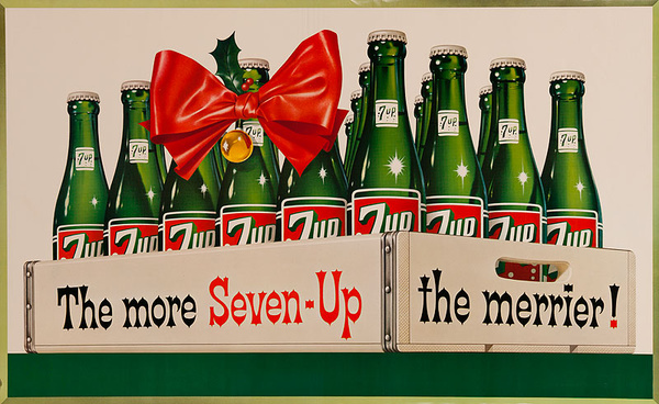 The More Seven-Up The Merrier Original Advertising Poster