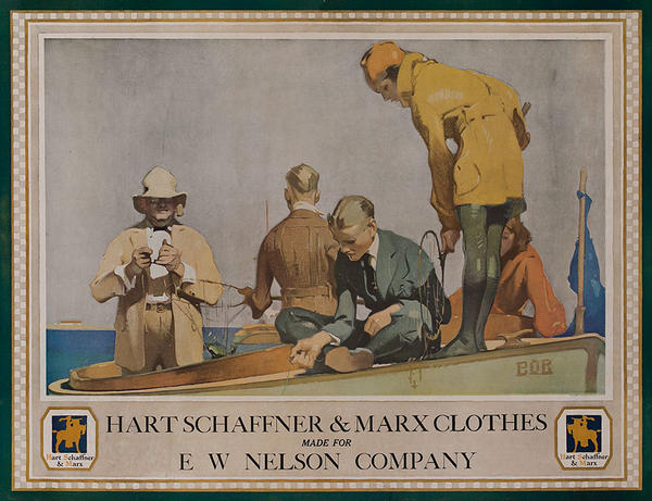 Hart Schaffner & Marx Clothes Original American Advertising Poster