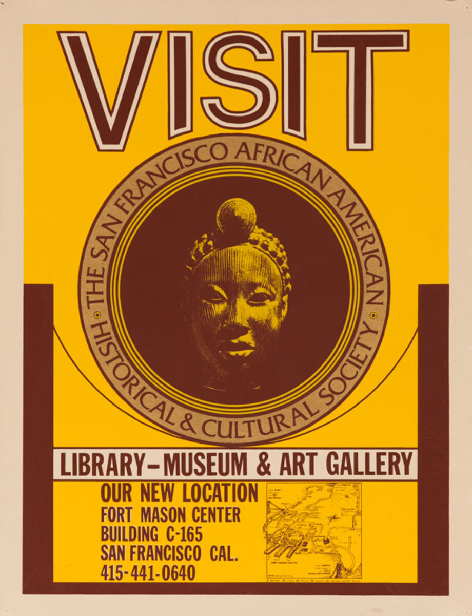 Visit The San Francisco African American Historical & Cultural Society Library Museum Original Poster
