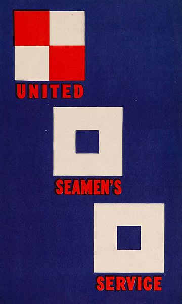 United Seamen's Service Original Nautical Flag Poster