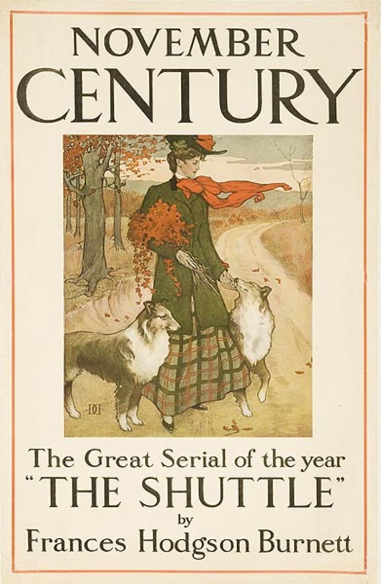 Century Magazine, November Great Serial The Shuttle Original American Literary Advertising Poster