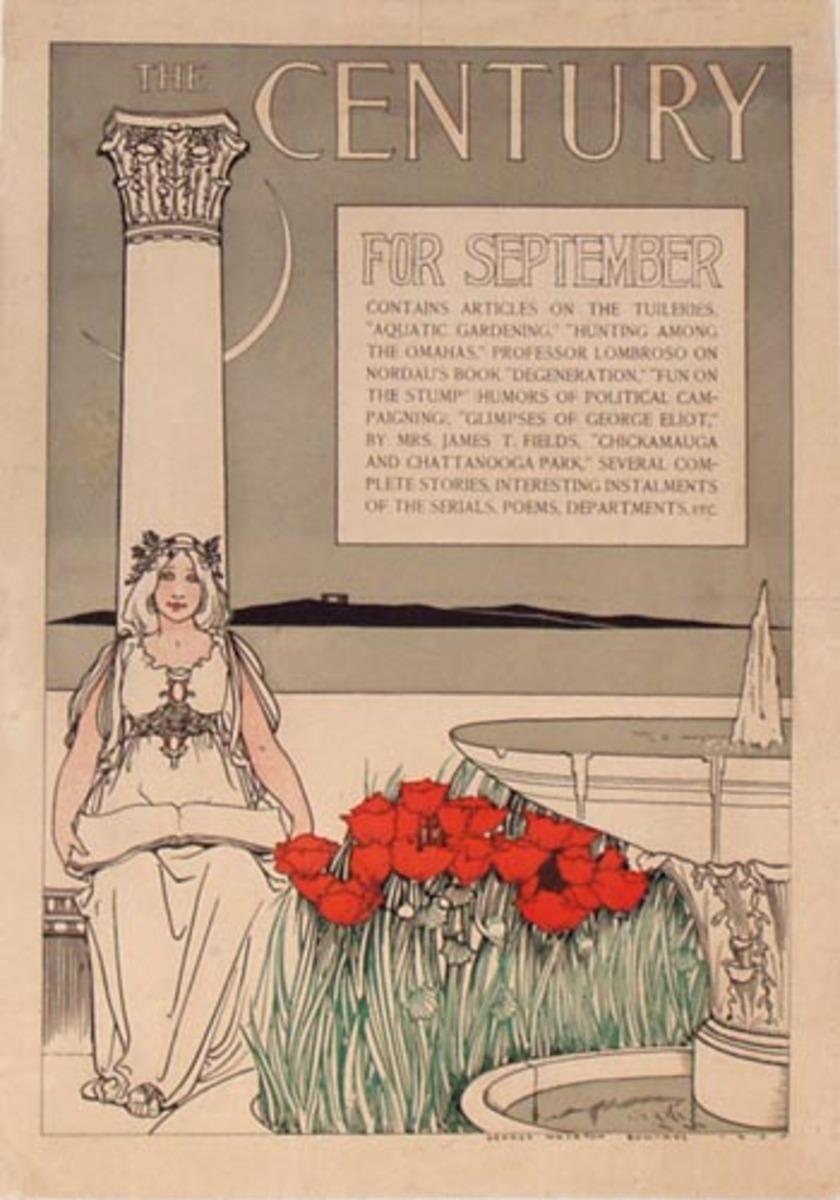 The Century for September Original Vintage Magazine Poster