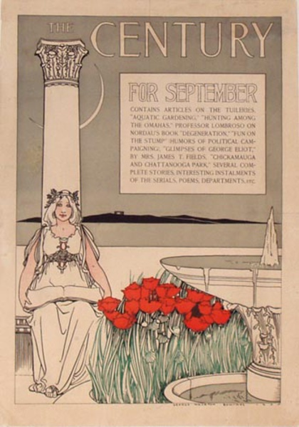 The Century for September Original Vintage Magazine Poster
