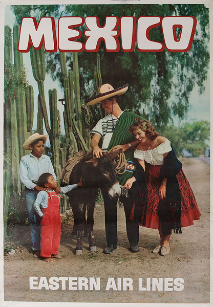 Mexico Eastern Airlines Tourist with Native Kids