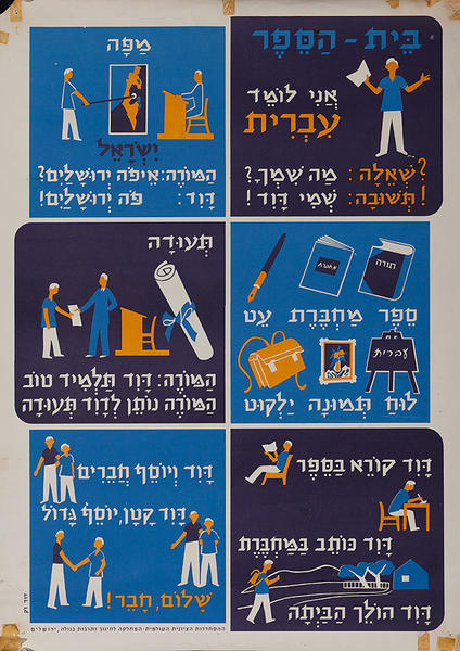 Israeli Political Poster, Emigrant Teaching Poster 2