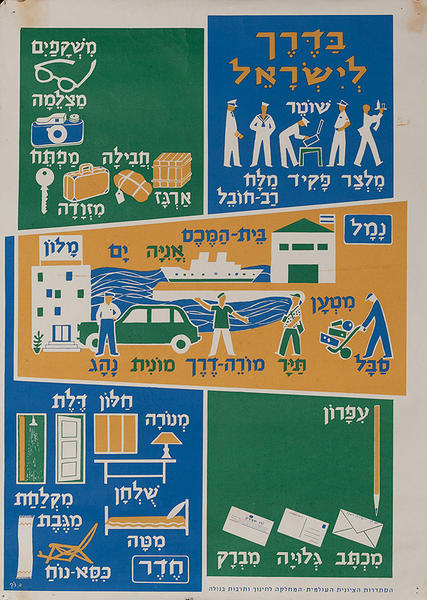 Israeli Political Poster, Emigrant Teaching Poster 3