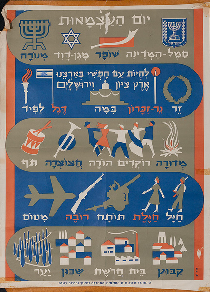 Israeli Political Poster, Emigrant Teaching Poster 1