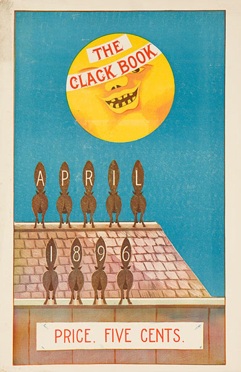The Clack Book April 1896 Original American Literary Poster