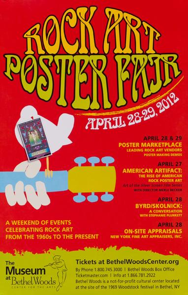 Rock Art Poster Fair Original Museum of Bethel Woods Woodstock Exhibit Poster