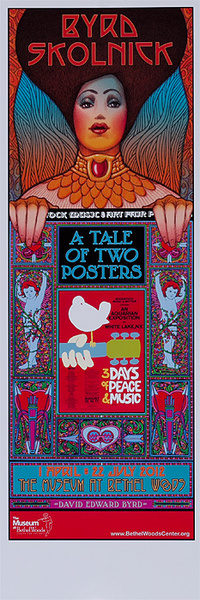 Byrd Skolnick A Tale of Two Posters Original Museum of Bethel Woods Woodstock Exhibit Poster woman