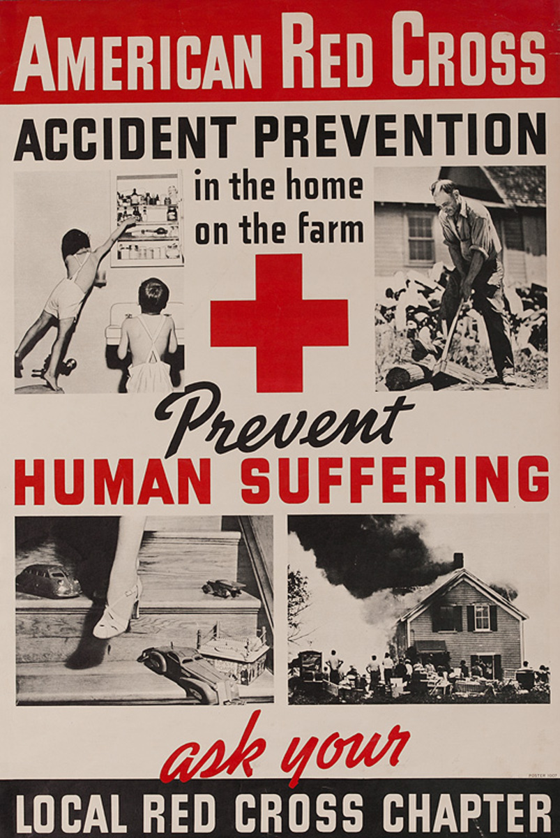 American Red Cross Accident prevention in The Home On the Farm Original Poster