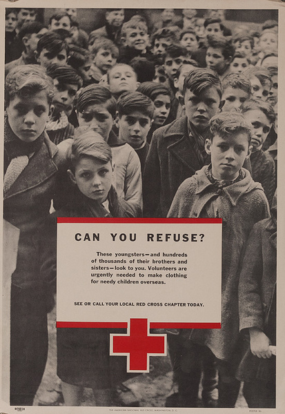 Can Your Refuse Original American Red Cross Poster