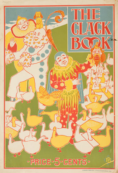 The Clack Book Clowns Original American Literary Poster