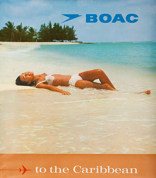 BOAC to the Caribbean Original Travel Poster