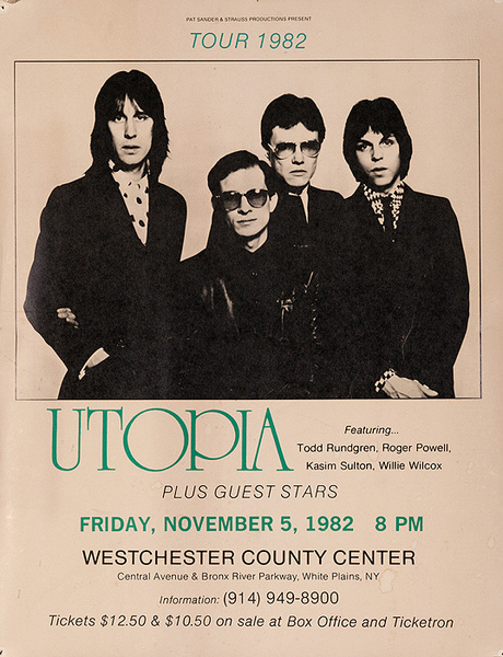 Utopia Tour 1982 Original Rock Concert Poster