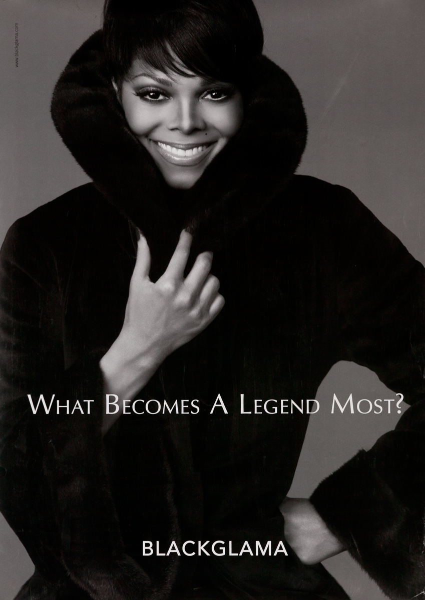 Blackglama Fur, What Becomes a Legend Most? Original Advertising Poster, Janet Jackson
