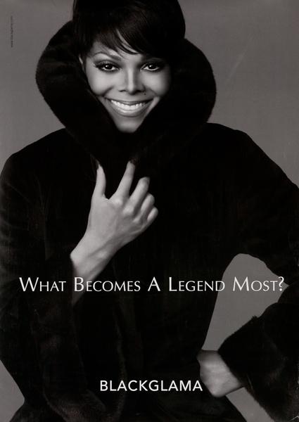 Blackglama Fur, What Becomes a Legend Most? Original Advertising Poster, Janet Jackson