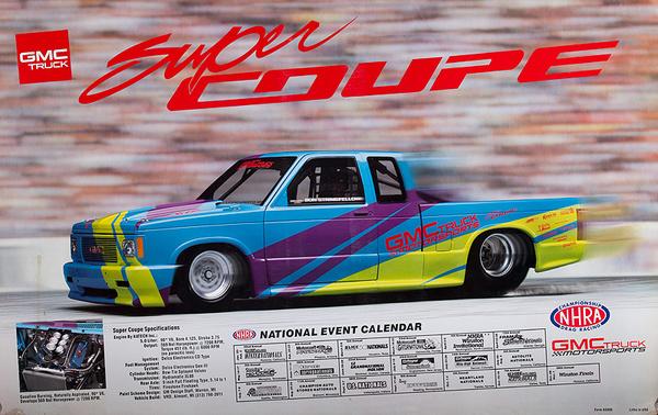 GMC Truck Super Coupe Original NHRA Poster