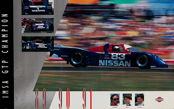 IMSA GTP Championship 89 90 91 Original Nissan Advertising Poster