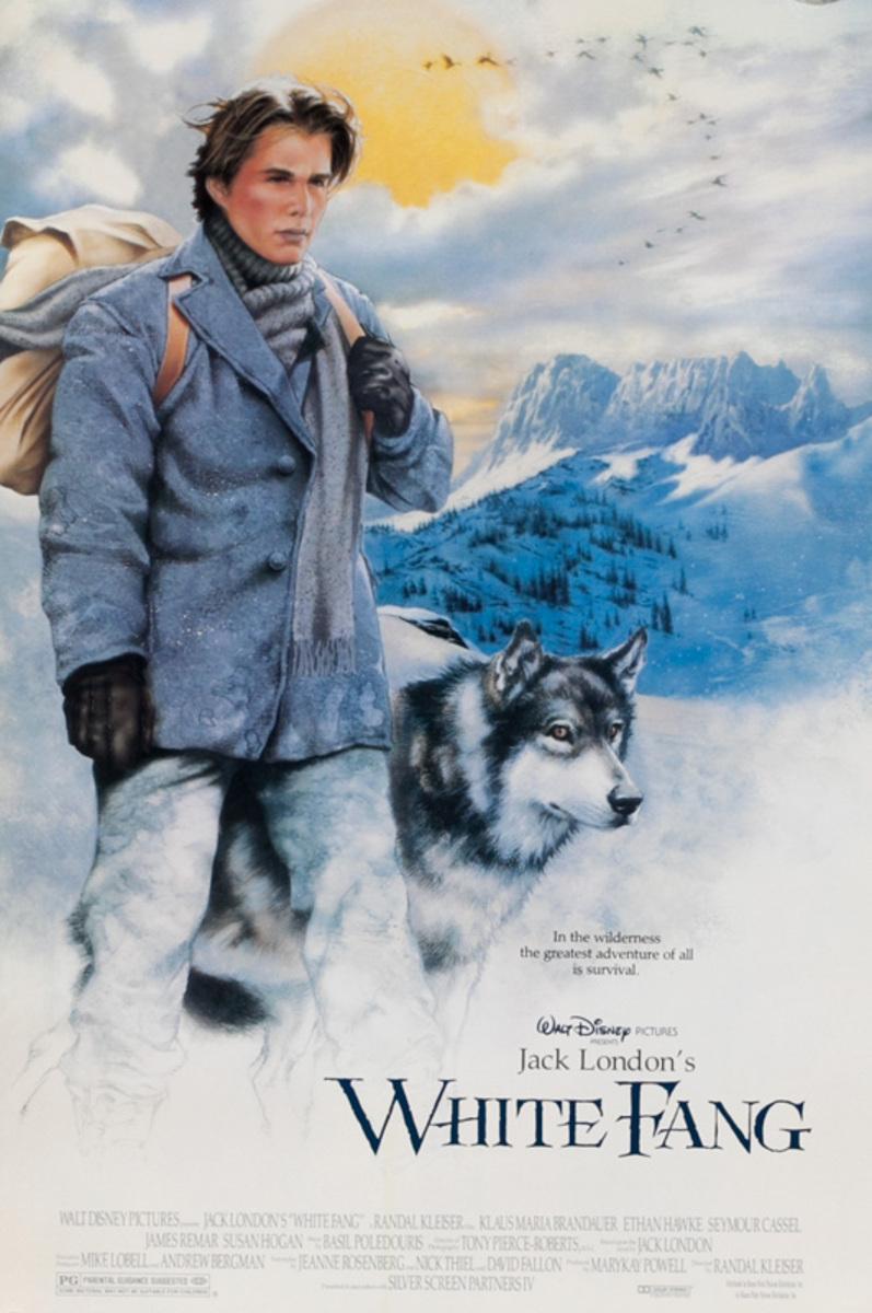White Fang Original Disney Movie Poster